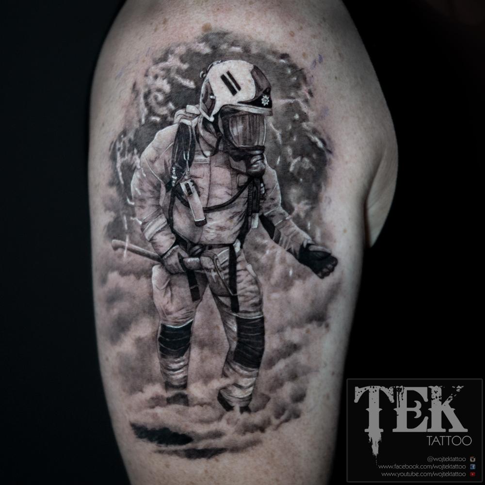 British fireman tattoo