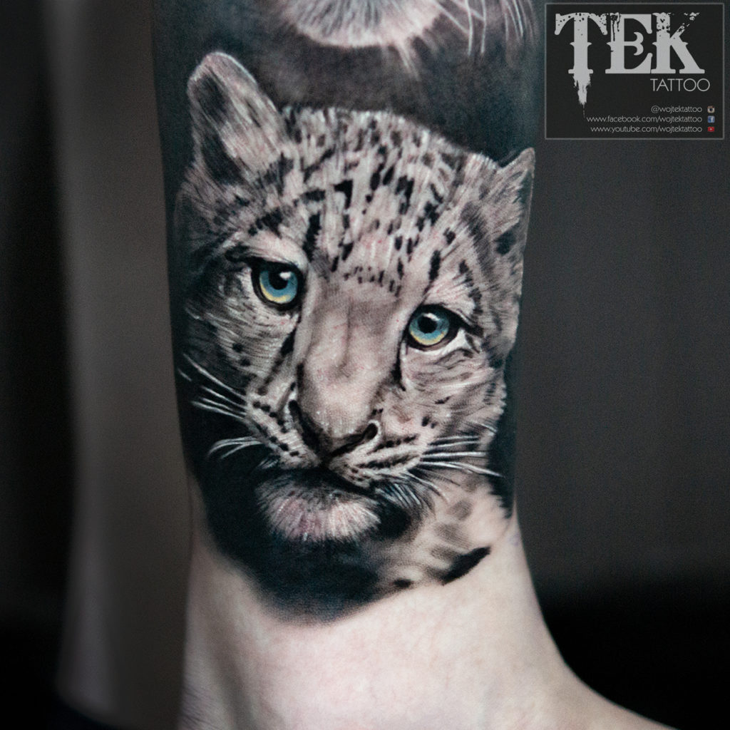 Leopard cub tattoo